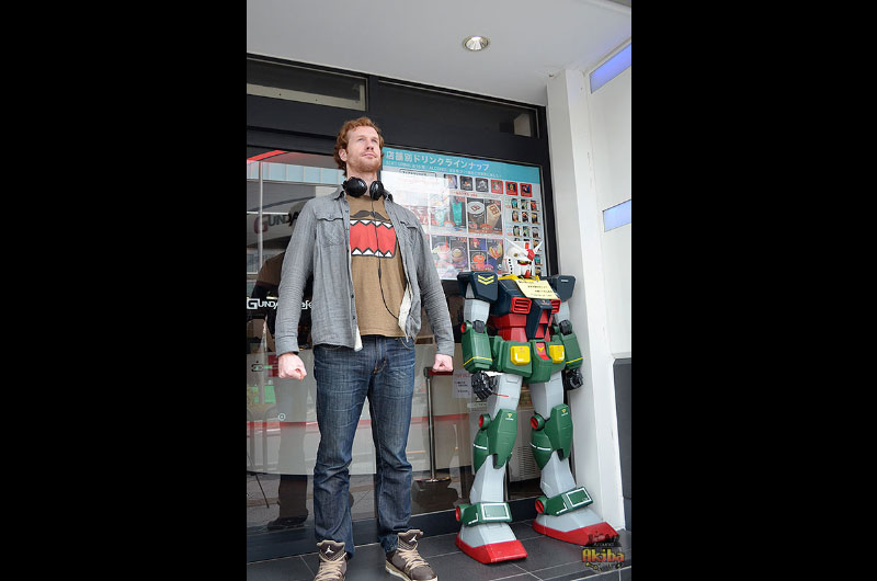 Akihabara Gundam Cafe outside