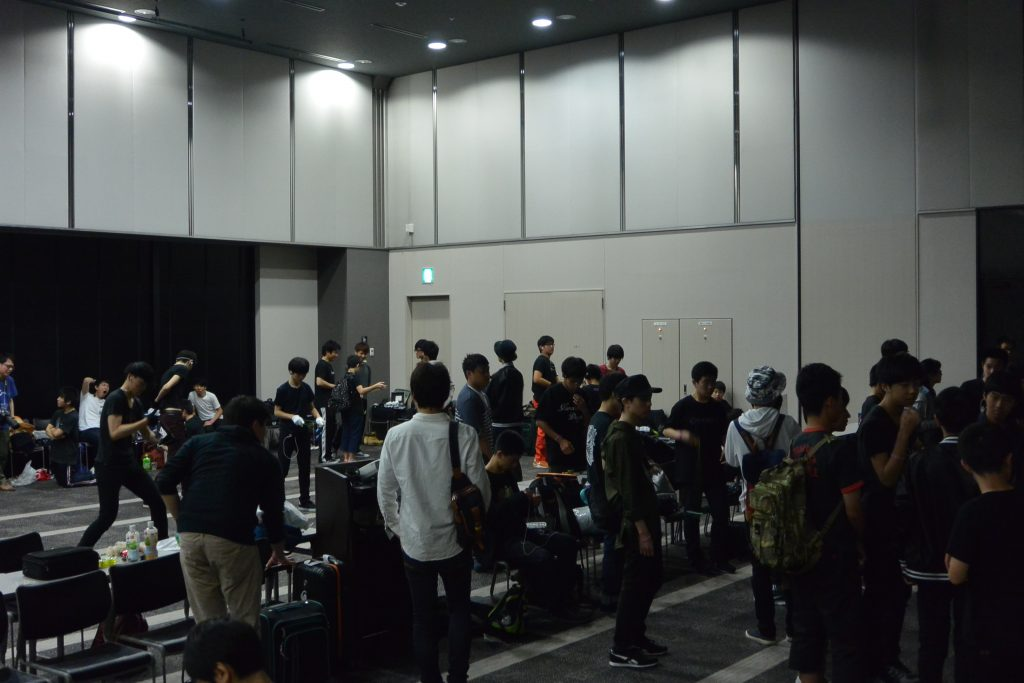 Japan National Yo-Yo Contest practice area
