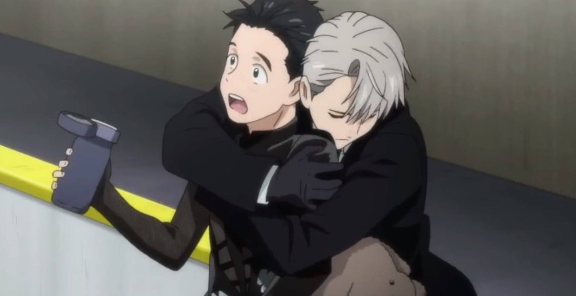 yuri on ice victor hug