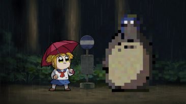 Pop Team Epic Totoro reference