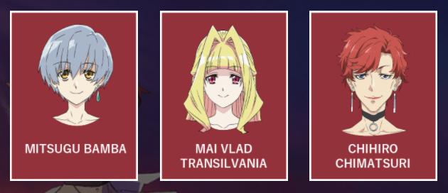 Vladlove Anime Main Characters