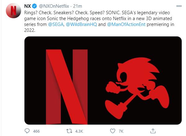 Netflix accidental Sonic announcement