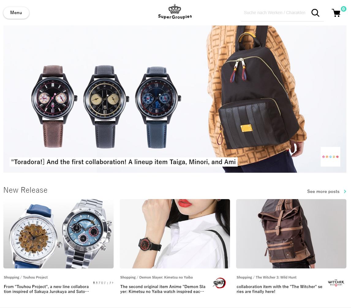 Super Groupies website