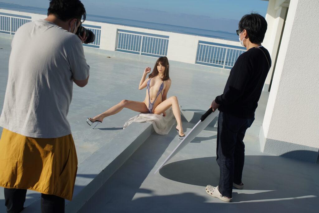 rooftop gravure shoot